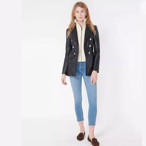 Veronica Beard Black Gaya Dickey Leather Jacket 8